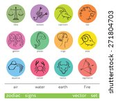 zodiac icons set  colored... | Shutterstock .eps vector #271804703