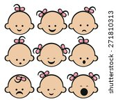 vector illustration of baby... | Shutterstock .eps vector #271810313