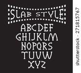 slab style alphabet   Shutterstock .eps vector #271815767