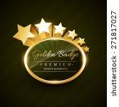 vector golden badge design with ... | Shutterstock .eps vector #271817027