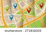brochure with folds city map... | Shutterstock . vector #271818203