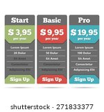 pricing table template for web  ...