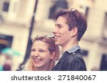 couple enjoying outdoors in a... | Shutterstock . vector #271840067