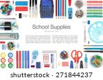 school supplies on white... | Shutterstock . vector #271844237