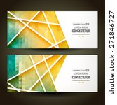 colorful mosaic banner. vector... | Shutterstock .eps vector #271846727
