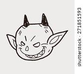 devil doodle | Shutterstock . vector #271851593