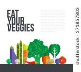 fresh vegetables vector concept.... | Shutterstock .eps vector #271857803