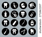 set of vector dental icons in...