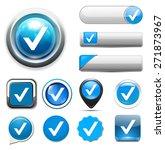 confirm icon   check mark button | Shutterstock . vector #271873967