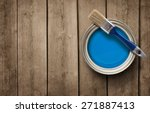 house renovation  paint can on... | Shutterstock . vector #271887413