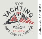 Yachting Club   Grunge Vector...
