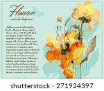 flower watercolor background... | Shutterstock .eps vector #271924397