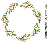 watercolor vector wreath | Shutterstock .eps vector #271944053