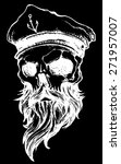 skull with beard and captain... | Shutterstock .eps vector #271957007