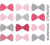 cute pink bow tie collection | Shutterstock .eps vector #271961567