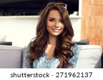 portrait of young pretty... | Shutterstock . vector #271962137