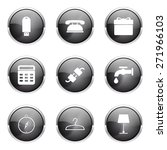 house equipments black vector... | Shutterstock .eps vector #271966103