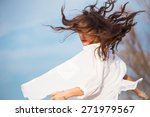 young woman in white shirt with ... | Shutterstock . vector #271979567