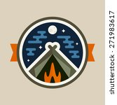 round camping tent badge icon... | Shutterstock .eps vector #271983617