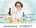 student girl doing research in... | Shutterstock . vector #271984277