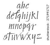vector set  hand written letters | Shutterstock .eps vector #271991717