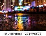 Night Cityscape  Colored Light...