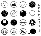 sport icons set vector... | Shutterstock .eps vector #271996853