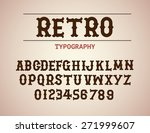 retro typography design font...   Shutterstock .eps vector #271999607