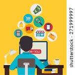 shopping design over yellow... | Shutterstock .eps vector #271999997