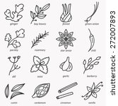 spices icons | Shutterstock .eps vector #272007893