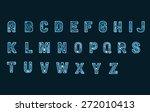 x ray alphabet | Shutterstock . vector #272010413
