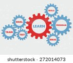 learn  goal  train  test ... | Shutterstock .eps vector #272014073