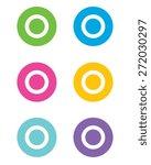 double circle icon set   vector | Shutterstock .eps vector #272030297