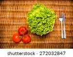 fitness concept with healthy... | Shutterstock . vector #272032847
