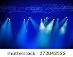 blue stage spotlights hanging... | Shutterstock . vector #272043533