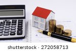 mortgage loans concept with... | Shutterstock . vector #272058713