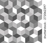 seamless pattern of gray cubes. ...