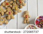 gingerbread men with... | Shutterstock . vector #272085737