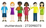 children of three races | Shutterstock .eps vector #272098373