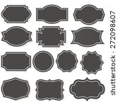 label shapes set vector... | Shutterstock .eps vector #272098607