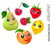 family of funny fruits. vector... | Shutterstock .eps vector #272117717