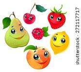 family of funny fruits. vector... | Shutterstock .eps vector #272117717