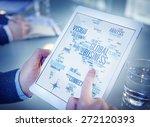 global business world...   Shutterstock . vector #272120393