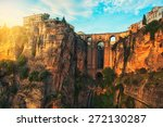 the puente nuevo new bridge... | Shutterstock . vector #272130287