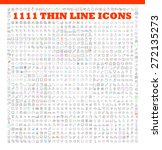 1111 thin line icons exclusive XXL icons set contains: universal interface, navigation, people, web store, finance themes, and many other. Ideal set for infographics | Shutterstock vector #272135273