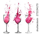 wine illustration   sketch and... | Shutterstock .eps vector #272154173