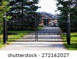 metal black gate | Shutterstock . vector #272162027