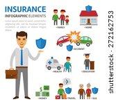 insurance broker infographic... | Shutterstock .eps vector #272162753