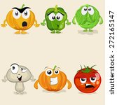 funny cartoons of colorful... | Shutterstock .eps vector #272165147