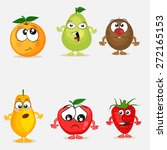 funny cartoons of colorful... | Shutterstock .eps vector #272165153